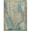 Graffitee Studios 1877 Edsall Map of Manhattan Graphic Art on Wrapped Canvas