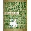 Graffitee Studios Play Series Sustain Turtle Textual Art on Wrapped Canvas