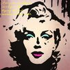 Graffitee Studios Pop Art Actress Icons Marilyn I Am Just Graphic Art on Wrapped Canvas