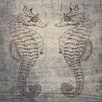 Graffitee Studios Love Seahorse Graphic Art on Wrapped Canvas