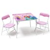 DeltaChildrenUK Princess Folding Children 3 Piece Square Table and Chair Set