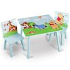 DeltaChildrenUK Winnie The Pooh Children 3 Piece Square Table and Chair Set