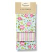 Cooksmart Vintage Floral 3-Piece Tea Towel Set