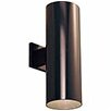 Progress Lighting Cylinder 2 Light Outdoor Sconce