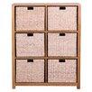 Hallowood Furniture New Waverly 6 Basket Storage Unit