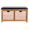 Hallowood Furniture New Waverly Wood Storage Kitchen Bench