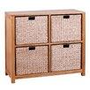 Hallowood Furniture New Waverly 4 Basket Storage Unit