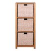 Hallowood Furniture New Waverly 3 Basket Storage Unit