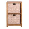 Hallowood Furniture New Waverly 2 Basket Storage Unit