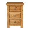 Hallowood Furniture New Waverly 3 Drawer Bedside Table