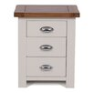 Hallowood Furniture Ascot 3 Drawer Bedside Table
