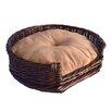 La Ti Paw Willow Wicker Dog Bed