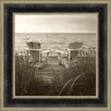 Tangletown Fine Art Beach Chairs by Christine Triebert Framed Photographic Print