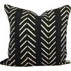 One Fine Nest Chevron Arrow Print African Mud Cloth Pillow Cover