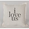 """Face to Face Designs """"I Love Us"""" Throw Pillow"""