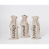 Face to Face Designs Linen Wine Bags (Set of 3)