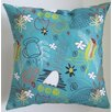 Collier Sun Mid-Century Wildflower Throw Pillow