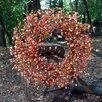 "Flora Decor Autumn 24"" Orange Berry Wreath"