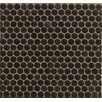 "Grayson Martin Penny Round Mosaic 12"" x 12"" Porcelain Tile in Black"