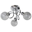 First Choice Lighting 3 Light Flush Ceiling Light