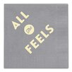 Breathless Paper Co. All the Feels Cocktail Napkin (Set of 25)