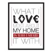 [LOVE TO BE] 'What I Love Most about My Home' Framed Textual Art