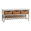 Maine Furniture Co. Country Farmhouse Storage Hallway Bench