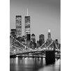 Wizard + Genius Manhattan Skyline at Night Fototapete 254 cm x 183 cm 4-teilig