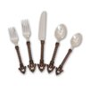 The GG Collection 5 Piece Twisted Metal Flatware Set