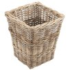 Old Basket Supply Ltd Square Rattan Wastepaper Basket