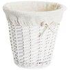 Old Basket Supply Ltd Lined Storage Round Wastepaper Basket with Liner