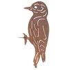 Old Basket Supply Ltd Rusty Woodpecker Garden Sign