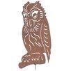 Old Basket Supply Ltd Rusty Large Owl Garden Sign