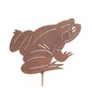 Old Basket Supply Ltd Rusty Frog Garden Stake