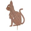 Old Basket Supply Ltd Rusty Small Cat Garden Stake