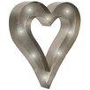 Old Basket Supply Ltd Skulptur Retro LED Heart