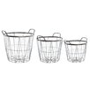 Old Basket Supply Ltd New Season 3 Piece Open Metal Basket Set