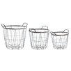 Old Basket Supply Ltd New Season 3 Piece Open Metal Basket Set