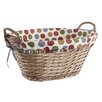 Old Basket Supply Ltd Suffolk Spots and Stripes Lined Storage Basket