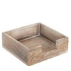 Old Basket Supply Ltd Small Square Wooden Napkin Box