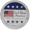 God Bless America 4 Piece Garden Art - Benzara Garden Statues and Outdoor Accents
