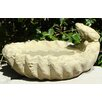 Frog on a Shell Birdbath - Designer Stone Inc Bird Baths