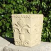 Square Regalia Cast Stone Pot Planter - Designer Stone Inc Planters