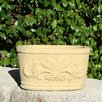 Oval Motif Cast Stone Trough Planter - Designer Stone Inc Planters