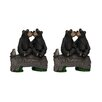 Two Bears Kissing on a Log Garden Accent Statue - Aspen Creative Corporation Garden Statues and Outdoor Accents