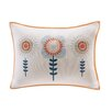 INK+IVY KIDS Laila Embroidered Oblong Cotton Lumbar Pillow