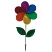 Rainbow Glitter Flower Spinner - In The Breeze Garden Statues and Outdoor Accents