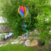 Rainbow Striped Hot Air Balloon Spinner - In The Breeze Garden Statues and Outdoor Accents