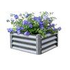 Low 1.8 ft x 1.8 ft Galvanized Steel Raised Garden - EarthMark Planters