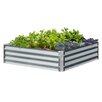 Low 3.3 ft x 3.3 ft Galvanized Steel Raised Garden - EarthMark Planters